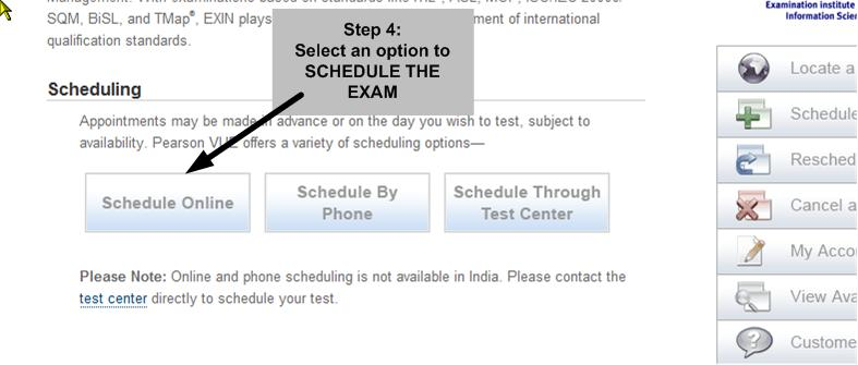 test schedule of india